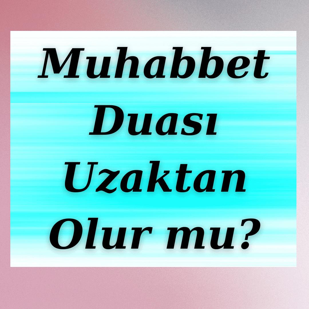 Uzaktaki Kocama Muhabbet Duası